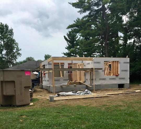 exterior addition progress