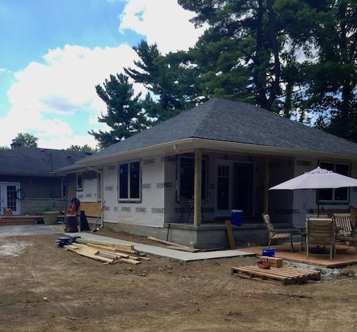 exterior progress after windows