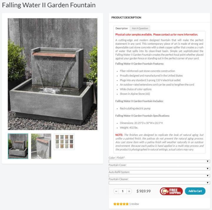 Fountain capture