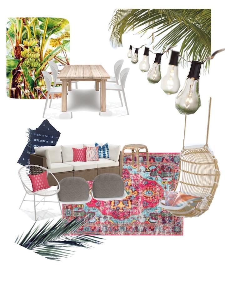 Backyard Paradise Moodboard