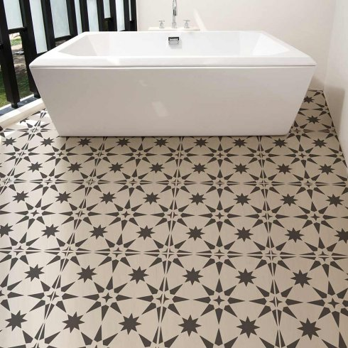 Cement-tile-stencils-stenciled-floor-tiles-black-white